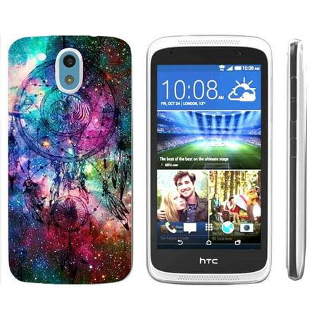 [NakedShield] HTC Desire 526 [Clear] Ultra Slim TPU Phone Cover Case [Rainbow Dream Catcher
