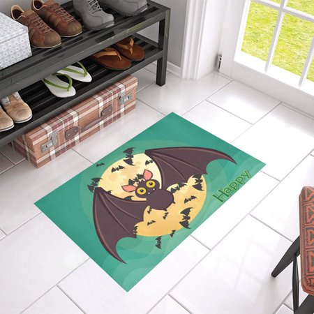 Mkhert Flying Bat Doormat Rug Home Decor Floor Mat Bath 23 6x15 7