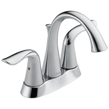 Delta Lahara Two Handle 4 in. Centerset Lavatory Faucet in Chrome 2538-MPU-DST