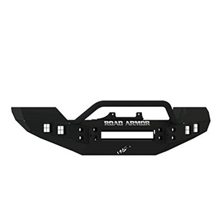 Road Armor - Road Armor 512R4B RDA512R4B 07-14 WRANGLER JK SATIN BLACK FRONT BUMPER W/ PRE-RUNNER - SQUARE LIGHT MOUNTS