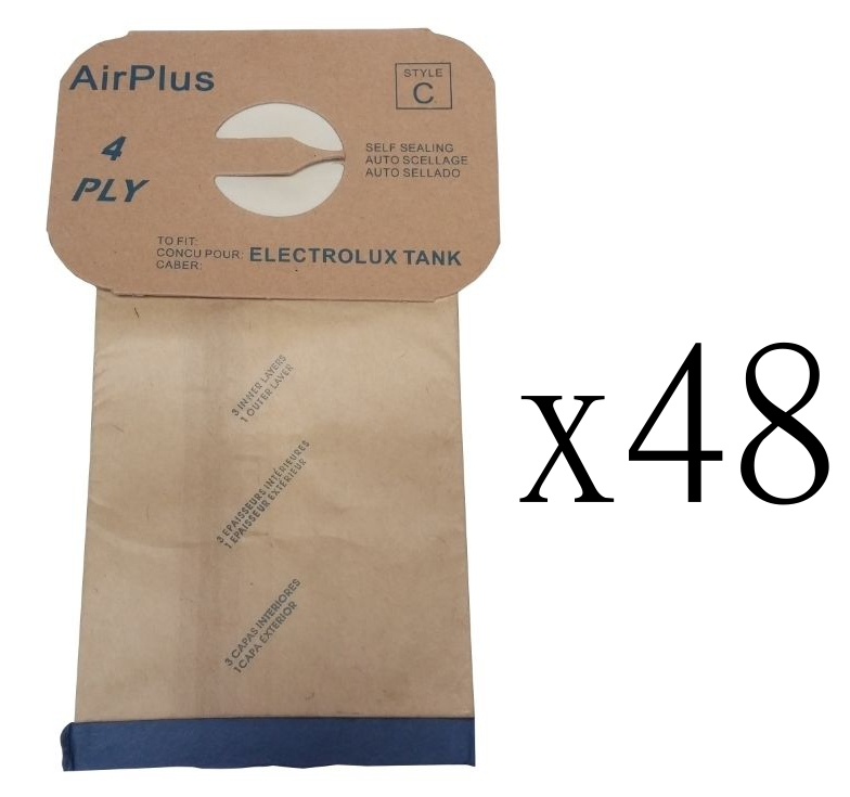 48 Vacuum Bags for Electrolux Style C Canister