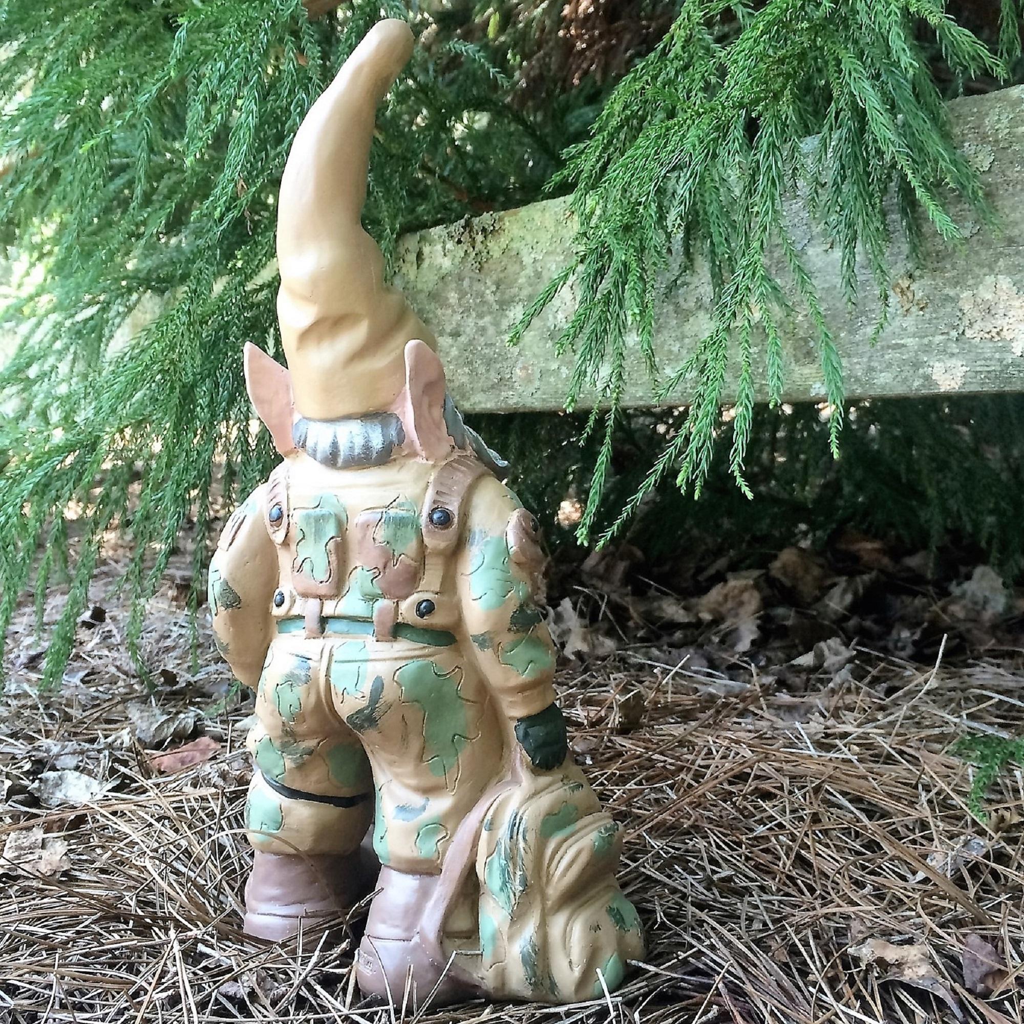 Homestyles Gi Joe Army Gnome American Military Solider In Fatigues Uniform Large Outdoor Garden Statue 15 H Walmart Com Walmart Com