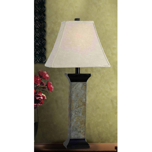 Kenroy Home Suffield Table Lamp, Natural Slate