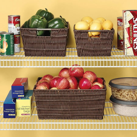 Whitmor Rattique® Storage Tote Basket - Java - 13? x 15? x 9.8?