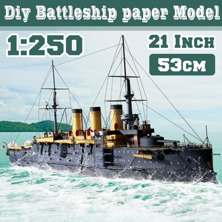 1/250 3D Paper Model Battleship Oslabya Ship Navy Military DIY Toy  Assembled Kit