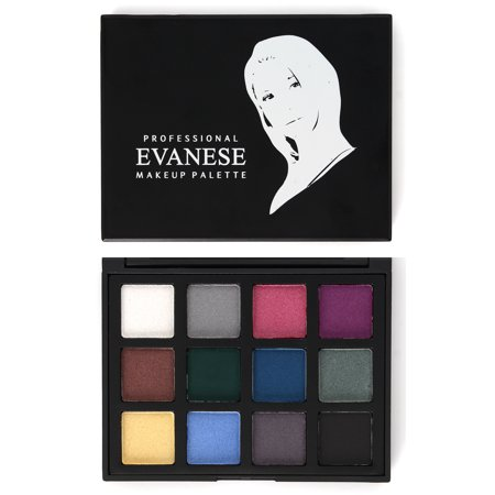 Evanese Professional Beauty Makeup 12 Color High Pigment Eyeshadow Palette