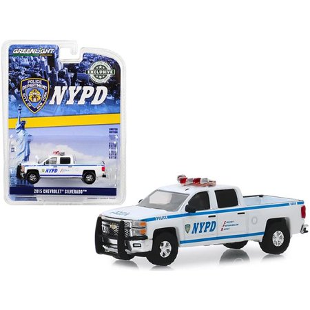 Greenlight 30093 2015 Chevrolet Silverado Pickup Truck New York City Police Department Hobby Exclusive 1 by 16 4 Diecast Model Car 1985 Chevrolet Pickup Truck