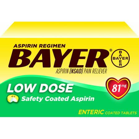 Bayer Asprin Regimen Low Dose Enteric Coated Asprin, 81 mg, 400 Ct