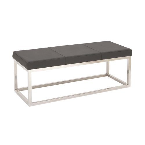 Cole & Grey Metal and Leather Bedroom Bench