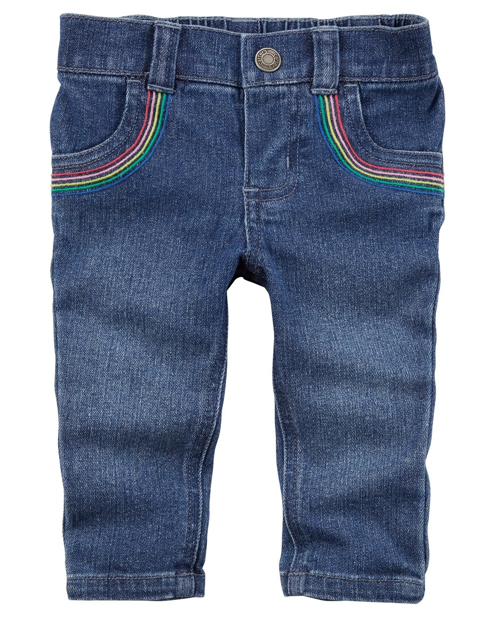 Carter's Baby Girls' Rainbow Jeans, 3 Months