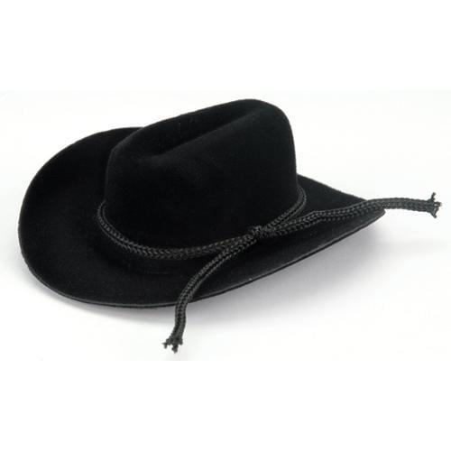 """Cowboy Hat W/Rope Trim 3/4""""-Black"""
