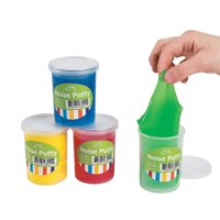 Fun Express - Noise Putty - Toys - Active Play - Dough & Putty & Slime Toys - 12 Pieces