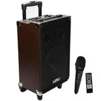"beFree Sound 10"" Bluetooth Portable Speaker with USB/SD FM Radio 500W"