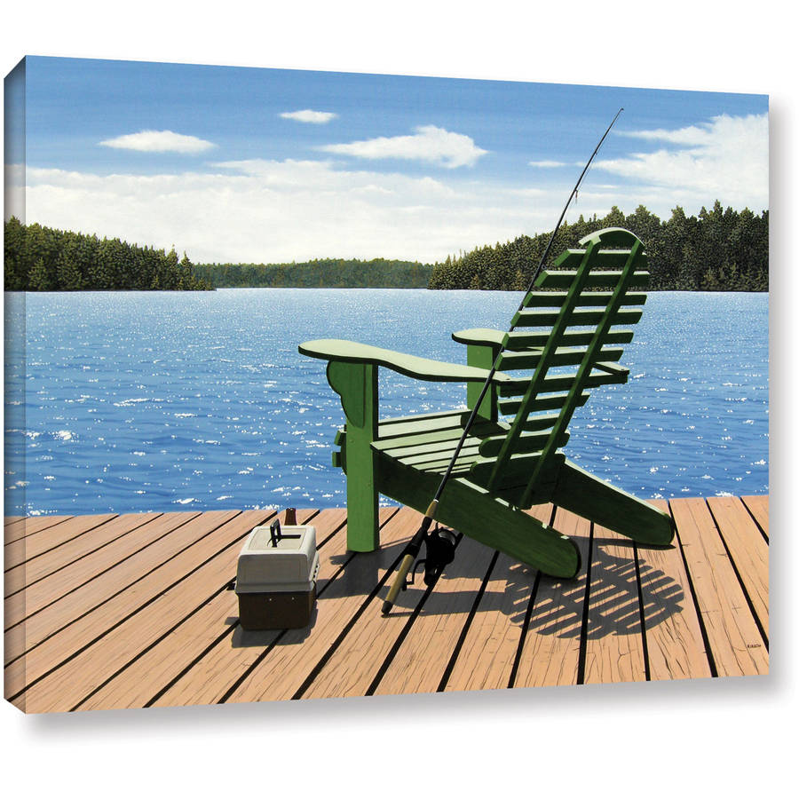 "ArtWall Ken Kirsch ""FishingChair"" Wrapped Canvas"