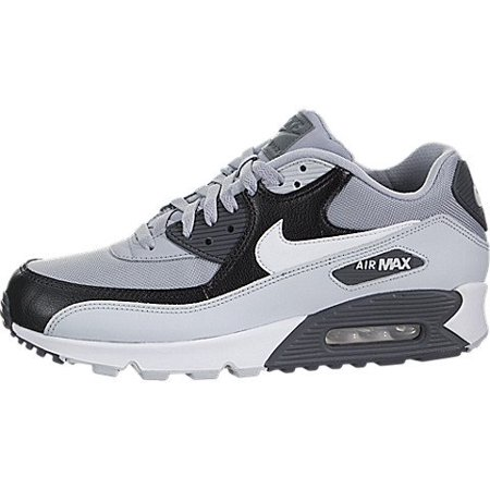 d52d7ee5557 Nike - Nike Mens Air Max 90 Essential Running Shoes Wolf Grey Pure  Platinum Black White 537384-083 Size 14 - Walmart.com