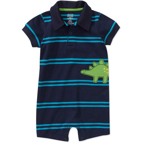 Child of Mine by Carters Newborn Boys' Stripe Dino Romper