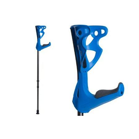 NEW Opticomfort Lightweight Forearm Crutches By FDI (Size: 4'3-6'6) 1 Pair/2 Crutches Blue (Forearm Crutch Tips)