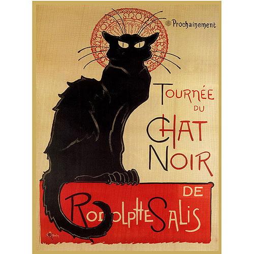 "Trademark Fine Art ""Tournee du Chat Nir"" Canvas Art by Theophile A Steinlen"