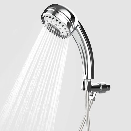 2018 The Newest Shower Head 9 Spray Setting Multi-Function Handheld Shower Head with Stainless Hose Set (Spray Setting Handheld Showerhead)