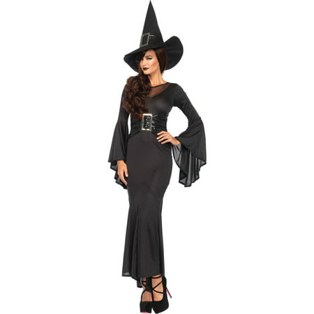 Leg Avenue Women's 2 Piece Wickedly Sexy Witch Costume, Black, Small/Medium](2 Piece Costumes)