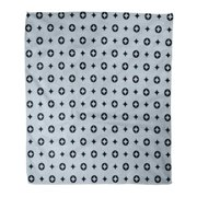 LADDKE Throw Blanket Warm Cozy Print Flannel Abstract Luxury Pattern with Diamonds and Circles Classic Coating Color Dress Comfortable Soft for Bed Sofa and Couch 50x60 Inches