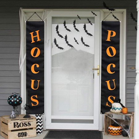 Halloween Decorations Outside Photos (Halloween Decorations Outdoor | Hocus Pocus Porch Sign | Witch Décor Banners for Party Yard Wall Outside Door Classroom)