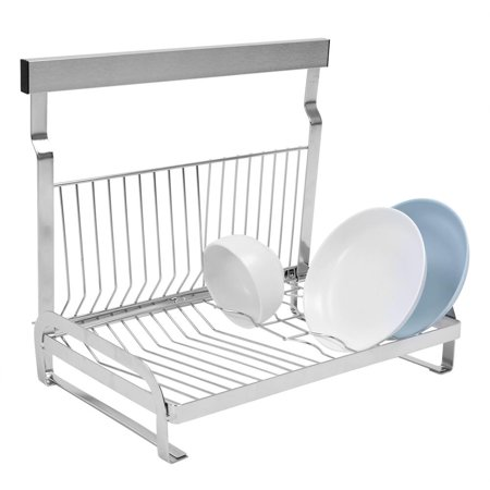 HERCHR Stainless Steel Wall Mount Dishes & Bowls Rack Solid Support Bowl Drainer No Falling, Wall Mount Dish Rack, Bowl Drainer (Bowl Support)