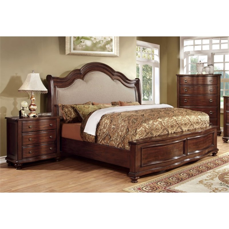 Marcella At Town Center: Furniture Of America Marcella 3-Piece King Panel Bedroom