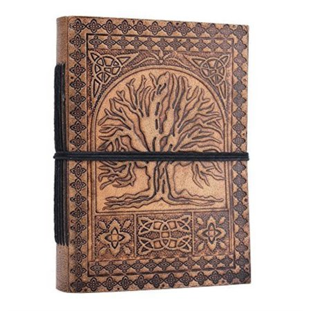 Handmade Leather Journals Personal Organizers Travel Notebook Diary (Tree)
