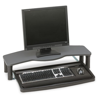 Comfort Desktop Keyboard Drawer With SmartFit, 26w x 13-1/2d, Black/Gray, Sold as 1 Each