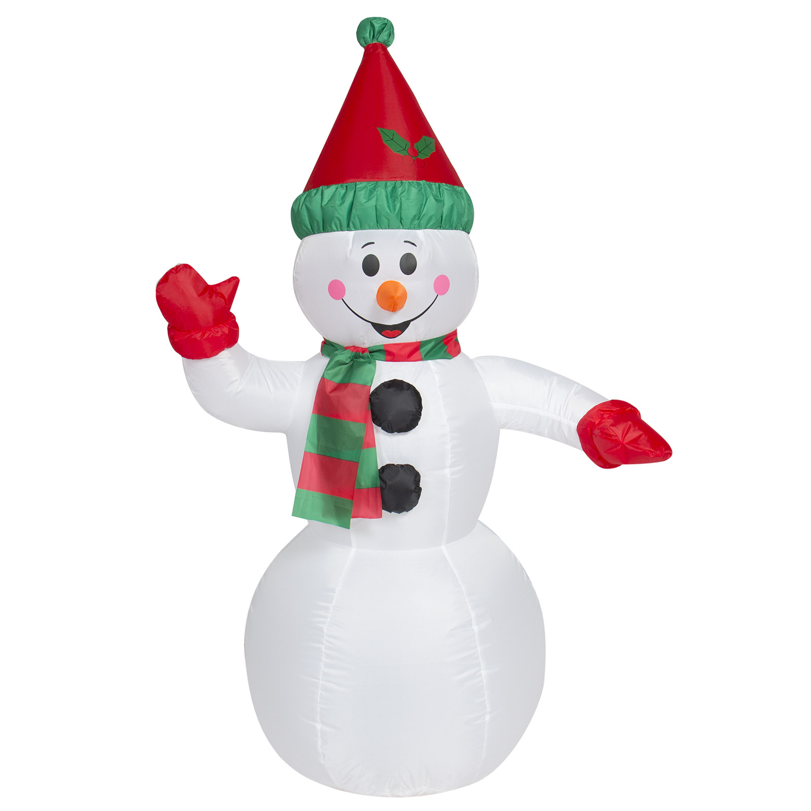 Best Choice Products 4ft Pre-Lit Inflatable Snowman Christmas Decor ...
