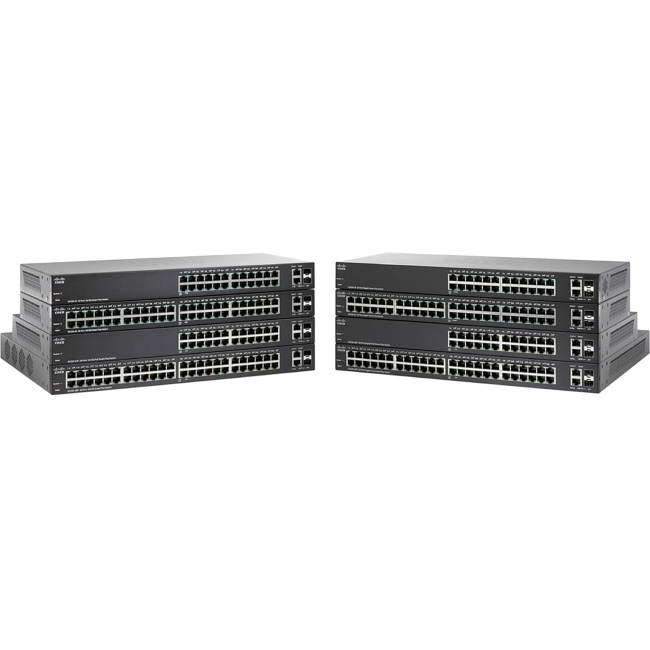 Cisco SG220-50P Ethernet Switch Manageable 2 Layer Supported Desktop, Rack-mountable Lifetime Limited Warranty by Cisco