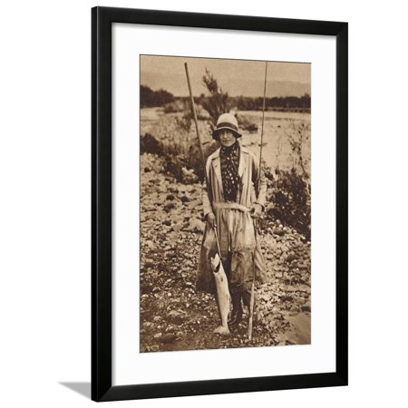 'With a catch at Tokanu, New Zealand', c1927, (1937) Framed Print Wall Art