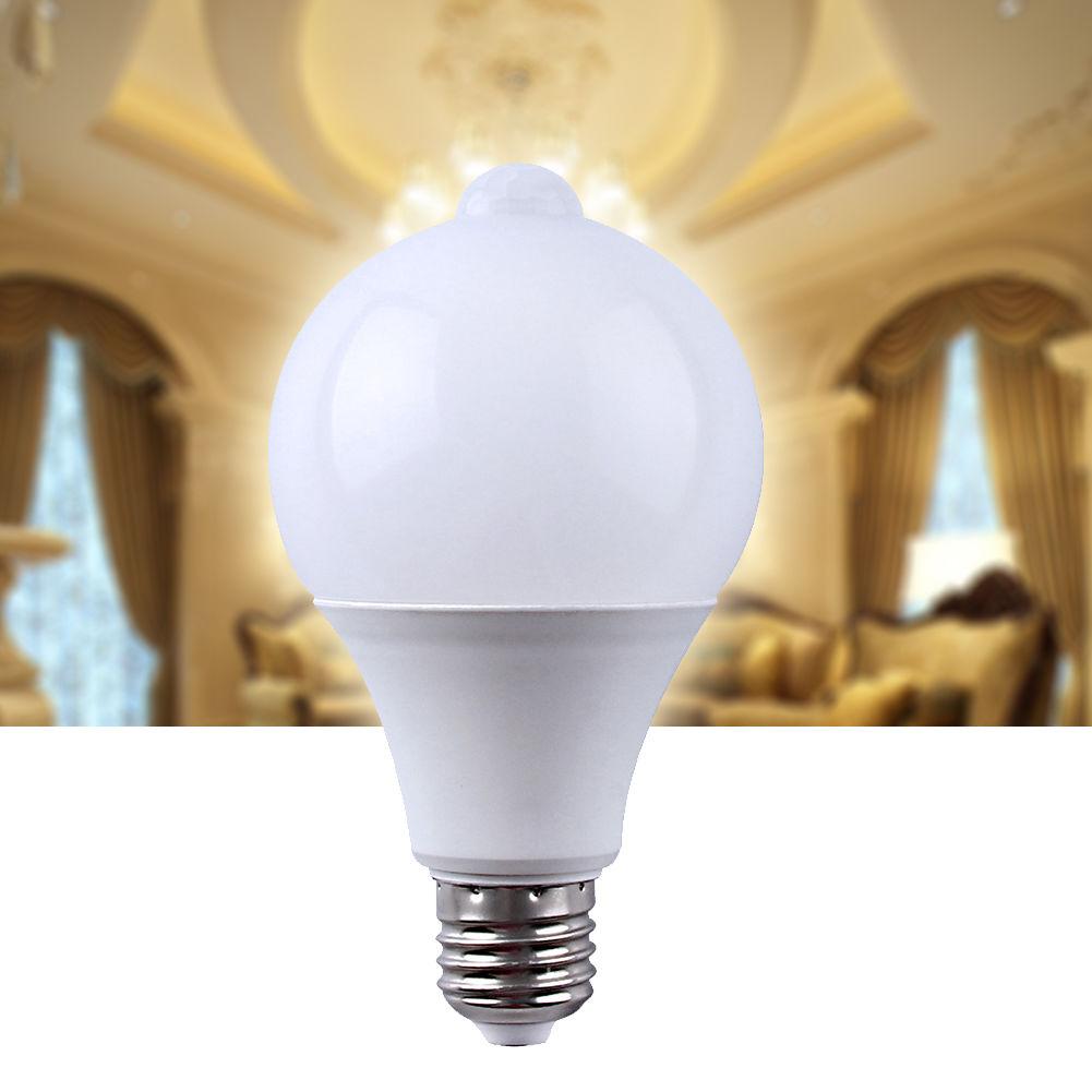 E27 LED Dusk to Dawn Auto Light Sensor w/ motion sensor Bulb Energy Saver Lamp 7W