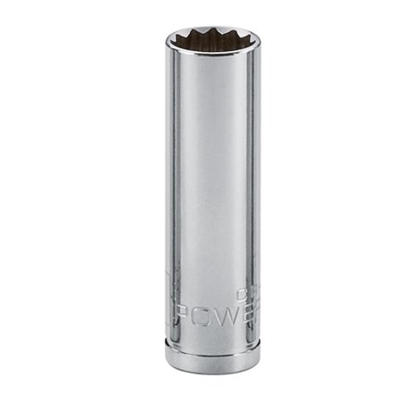- Powerbuilt 1/2-Inch Drive 3/4-Inch 12 Point Deep Well Socket , Chrome-Vanadium