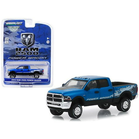 2016 Dodge Ram 2500 Power Wagon Pickup Truck Blue Streak Pearlcoat Hobby Exclusive 1/64 Diecast Model Car by Greenlight