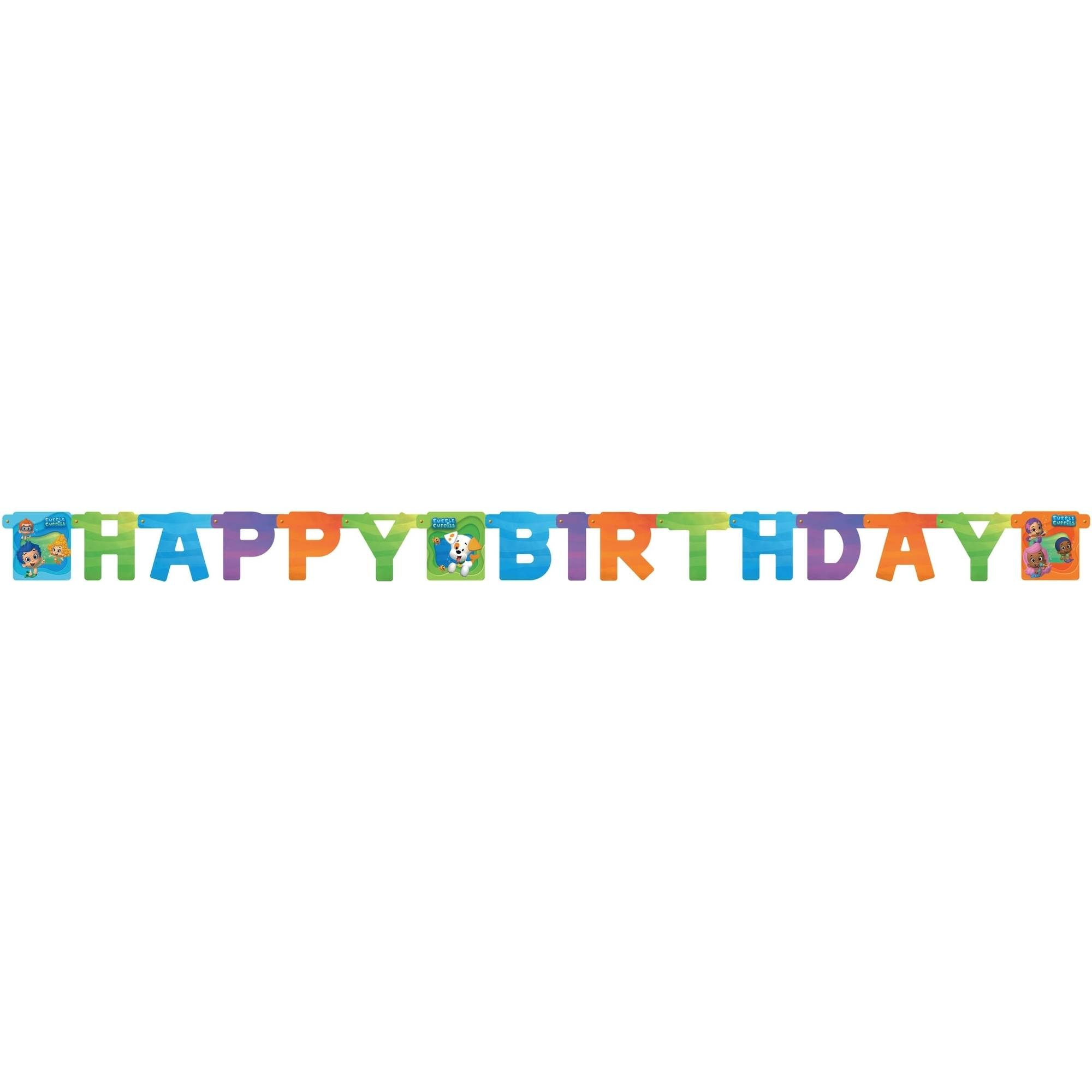 Bubble Guppies Birthday Party Banner, Party Supplies