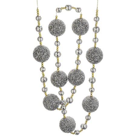 Gold China Garland (6' Silver Ball and Gold Chained Holiday Ball Garland)