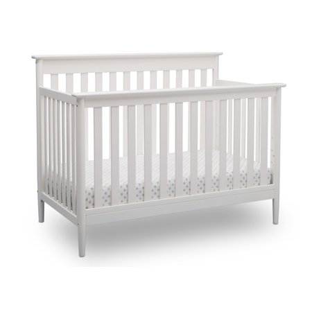 Delta Children Greyson Signature 4-in-1 Convertible Crib, Bianca White