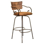 Cantina 24 in. Swivel Hand-Forged Barstool - Brown