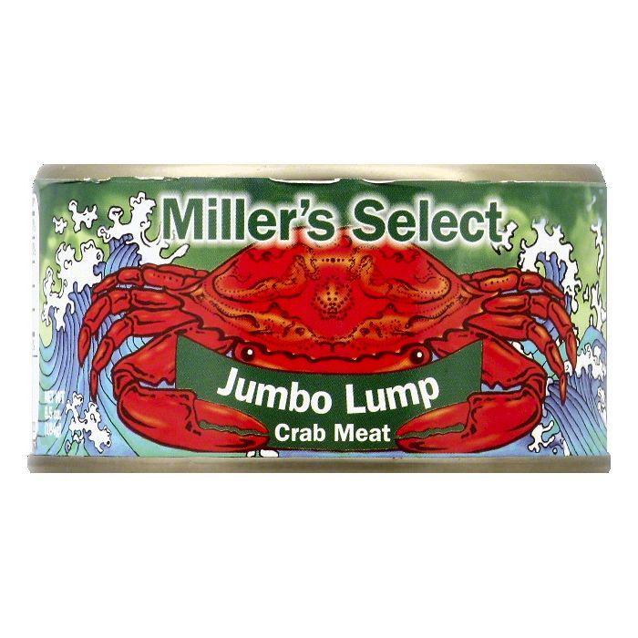 Millers Select Jumbo Lump Crab Meat, 6.5 OZ (Pack of 12)