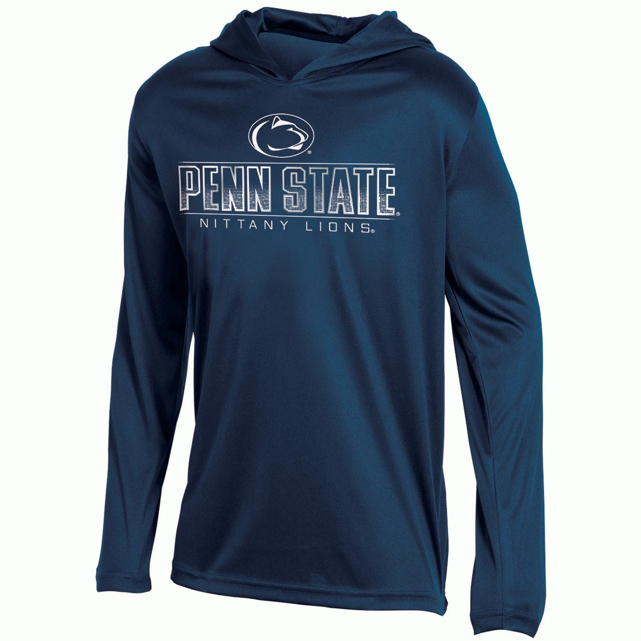 Youth Russell Navy Penn State Nittany Lions V-Neck Pullover Hoodie