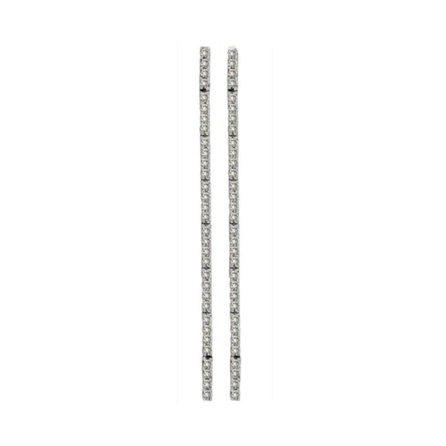 Harry Chad Enterprises HC11296 1.22 CT Diamonds Women Pair Earring - 14K White Gold - image 1 of 1