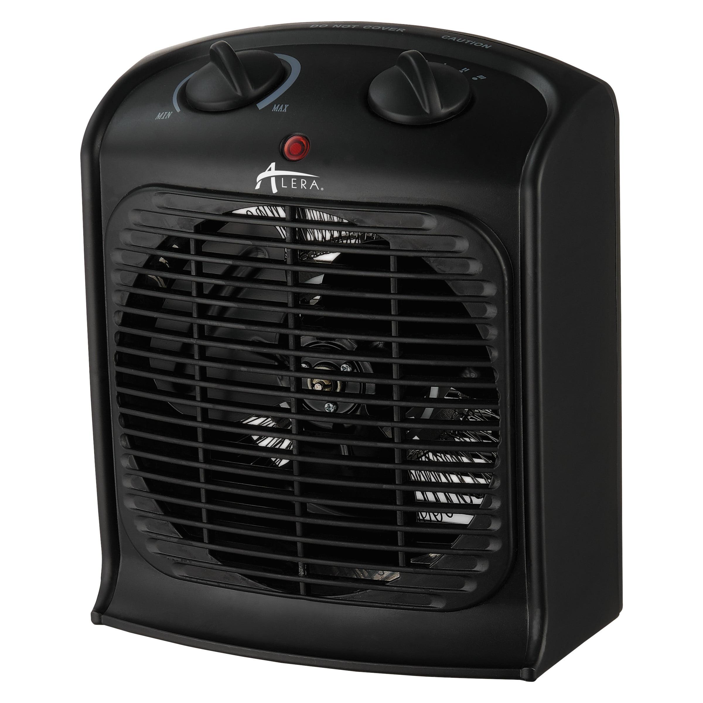 "Alera Heater Fan, 8 1/4""w x 4 3/4""d x 9 3/4""h, Black"