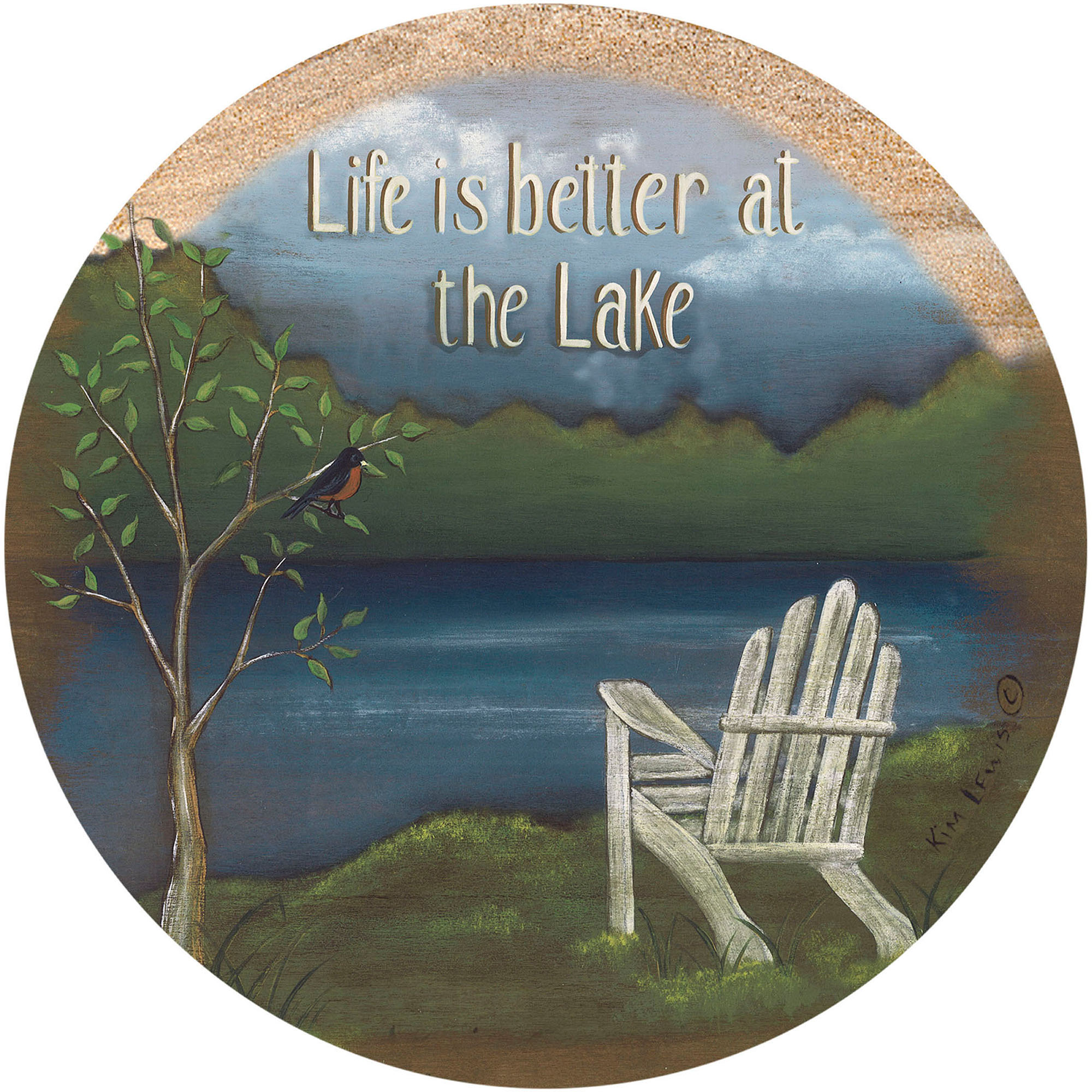 Thirstystone Drink Coasters Set, Life at the Lake