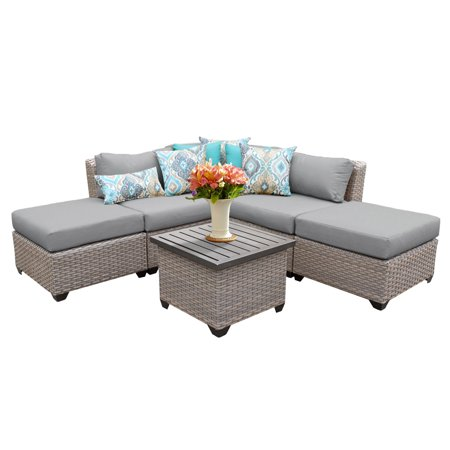 Catalina 6 piece outdoor wicker patio furniture set 06f for Outdoor patio furniture sets walmart