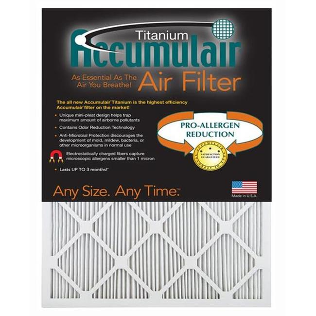 Accumulair FI14X17.5A 14 x 17.5 x 1 in. Actual Size Titanium High Efficiency Allergen Reduction Filter