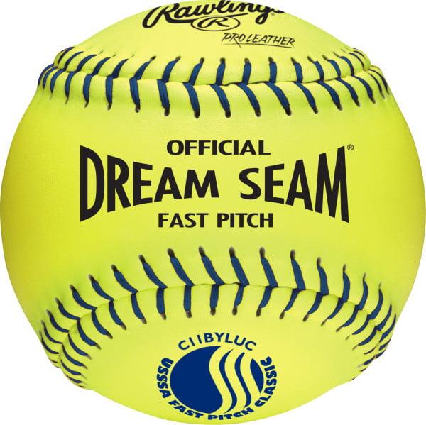 "Rawlings USSSA 11"" Dream Seam High Density Core Leather Softballs, 12 Pack"