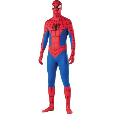 Mens Spiderman Second Skin Halloween Costume - Big Mens Halloween Costumes