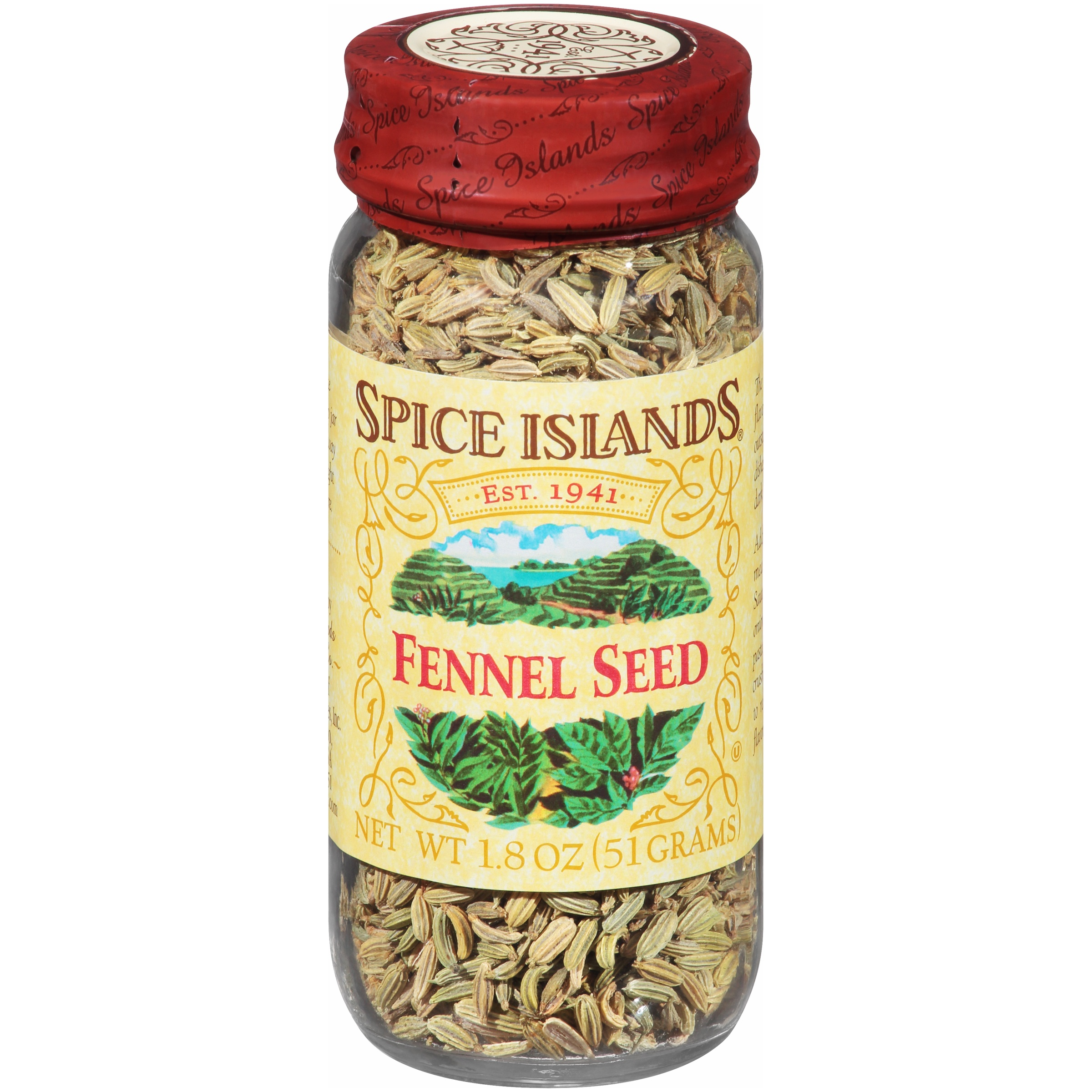 (2 Pack) Spice Islands® Fennel Seed 1.8 oz. Jar